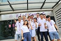 與團員(清華大學交流活動參加者林億進同學提供)