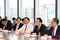 Prof. Benjamin Wah (middle at front row), Acting Vice-Chancellor of CUHK speaks at the meeting