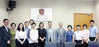 中大副校長潘偉賢教授(中)等多位教職員會見深圳市財政委員會訪問團