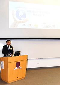 國家自然科學基金委員會副主任何鳴鴻博士在研討會開幕典禮上致詞