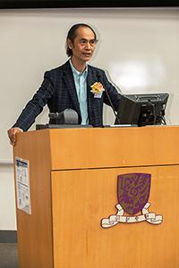 中大未來城市研究所所長梁怡教授在研討會開幕典禮上致詞