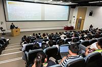 香港特別行政區政府資訊科技總監楊德斌先生, JP在研討會上發表主題報告