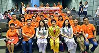 來自「馬雲公益基金—香港學術及文化交流體驗團」的內地30位鄉村教師與中大代表合照