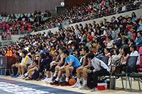 台上觀眾全神貫注,支持一眾場內球員