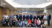 The delegation led by Prof. Bai Chunli from the Chinese Academy of Science (CAS) visits the School of Biomedical Sciences with a group photo posed with school members