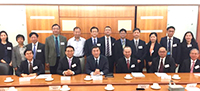 Prof. Bai Chunli from the Chinese Academy of Science (CAS) posed a group photo with CUHK members