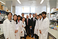 Prof. Bai visits the CAS KIZ-CUHK Joint Laboratory of Bioresources and Molecular Research of Common Diseases