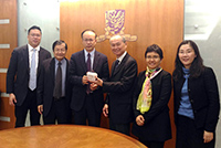 Prof. Chen Zhimin (third from left), Associate Vice-President of Fudan University leads a delegation to CUHK