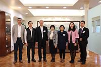 中大副校長張妙清教授(中)等歡迎中國工程院譚述森院士(左三)來訪