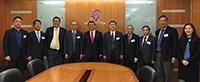 中大校長段崇智教授(左五)與中大教職員歡迎中國工程院代表團來訪