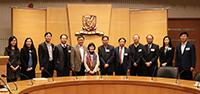 中大副校長張妙清教授(左六)等歡迎中國科學院院士訪問團來訪