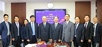 霍泰輝副校長(中)等與山東中醫藥大學訪問團會晤