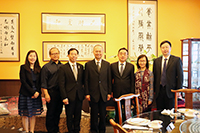 Prof. Fok Tai-fai (middle), Pro-Vice-Chancellor and colleagues meet with delegates from Renmin University of China