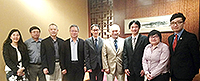 Prof. Edwin Chan (middle), Associate Vice-President of CUHK, hosts the welcome dinner for AS Academicians