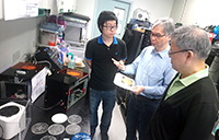 Prof. Chiang Ann-Shyn visits laboratories of the Department of Biomedical Engineering