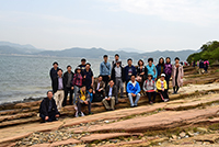 Participants of the workshop join a field trip to Tung Ping Chau organized by CUHK colleagues