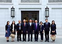 中大代表團成員參觀清華大學蘇世民書院