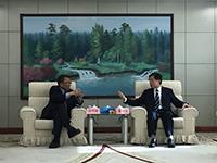 段崇智校長(左)率團訪問國家民政部