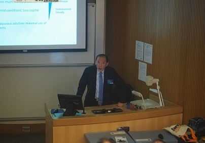 Guest speaker, Prof. Wang Jun, shares his experience on transferring research studies results to popular products.