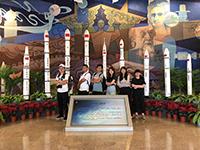 參觀亞洲最大的航天展示館(北京航空航天大學活動參加者黃浩昇同學提供)