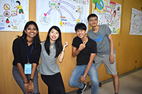 Presentation with my group mates from various parts of the world (Photo Credit: Miss Chen Jialin; Programme Host: National Cheng Kung University)