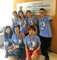 參加者穿著醒目T恤往中大實習部門培訓