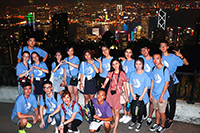 Students enjoy the glamorous view of both sides of the Victoria Harbour from the Victoria Peak