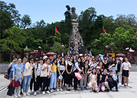 Participants visit the Big Buddha on Lantau Island