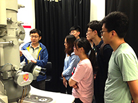 Mainland participants learn about laboratory operations from their host professor