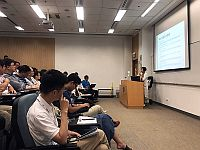 Ms. Cecilia Law from Office of Student Affairs gives a lecture at the Summer Institute