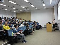 Ms. Lavender Cheung, Director of Communications and Public Relations gives a lecture at the Summer Institute