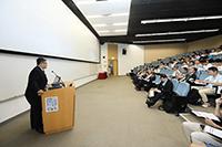 國家自然科學基金委員會港澳台辦副主任王文澤先生在研討會開幕典禮上致詞