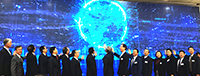 Professor Edwin Chan of CUHK (fourth from left) officiates at the launching ceremony of the alliances with leaders of other member institutions