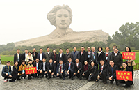 Professor Wong Suk-ying (fourth from right at front row) of CUHK visits Hunan with delegates from the technology and education sectors of Hong Kong