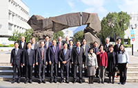 Delegation of Fudan University poses a group photo with CUHK members