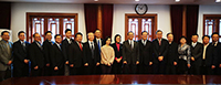 Representatives of CUHK and PKU pose for a group photo