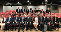Professor Joseph Lau, Master of Lee Woo Sing College, together with participants of the Executive Training Programme, poses for a group photo