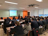 Tsinghua executives attend a sharing session on CUHK campus