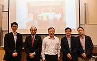 Faculty members of CUHK's Department of Chemistry warmly welcome the visit of Prof. Cheng Chien-Hong (middle)