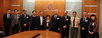Prof. Fanny Cheng (middle), Pro-Vice-Chancellor of CUHK, welcomes the Academicians delegation from the Academia Sinica