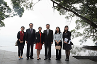 Commissioner Xie Feng visits the Harmony of Pavilion at the New Asia College with Mrs. Feng and accompanies