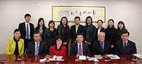 Pro-Vice-Chancellor Fanny Cheung (front row, third from left), of CUHK led members to the University to meet with Prof. Li Jia, Director General of SIMM of CAS