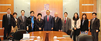 Professor Rocky Tuan (middle), Vice-Chancellor of CUHK, etc. meet with the delegation from Shandong University