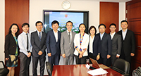 Professor Dennis Ng (fifth from left), etc. meet with delegates from Fudan University