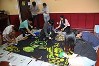 中大同學在校園參加繪畫心理工作坊(西南交通大學參加者黃清心同學提供)