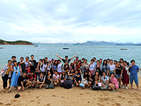 Participants of the Research Placement Programme experience the beauty of Hong Kong famous outlying island of Cheung Chau