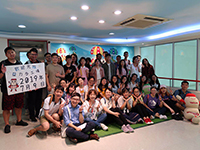 Participants of the Research Placement Programme visit the factory of Yakult