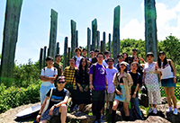 Participants of the Research Placement Programme enjoy their leisure weekend on Lantau Island