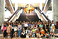 Participants of the Summer Camp visit the Heritage Museum
