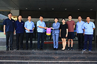 Group photo of the CUHK's research team and senior members of state-owned enterprises in Weinan, Shaanxi.